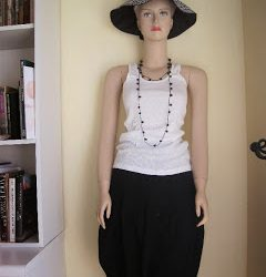 Bubble Skirt with Threaded Bead Necklace