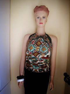 No Sew Halter Top from Silk Scarf