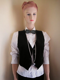 Vintage Bow Tie and Waistcoat, Bargain Buys, Heart Long Necklace