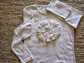 Rosette on T-shirt