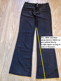 How to Restyle Bootcut to Skinny Leg Jeans