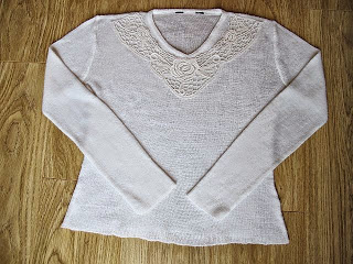 Sweater Revamp with Crochet Neckline Piece