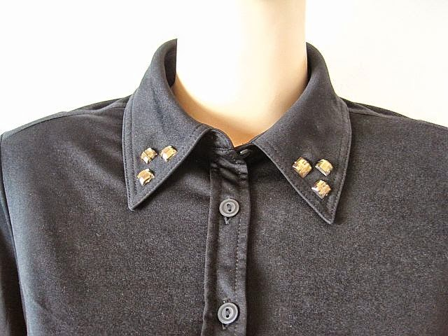 Embellished Shirt Collar DIY