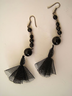 Net Tassel Earrings