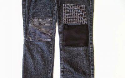 Print Patch Jeans