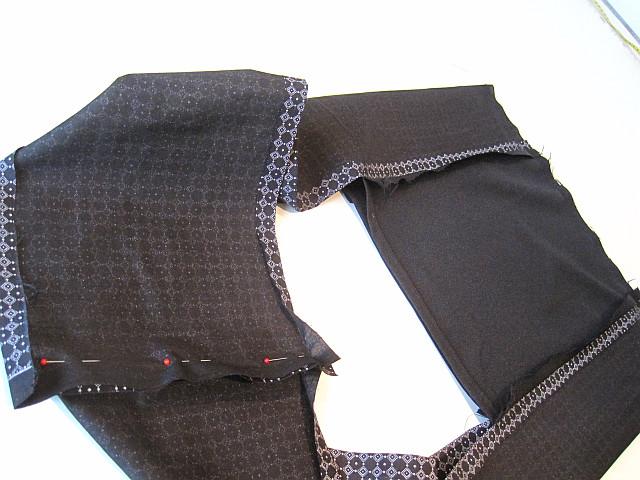 Sew top and hem all around
