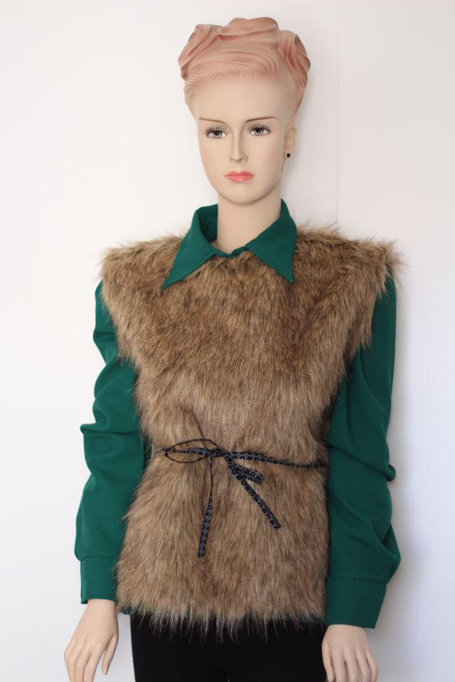Faux Fur Vest Free Pattern Greenie Dresses For Less