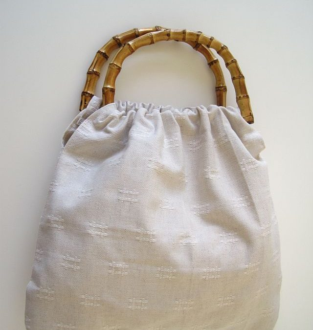 Bamboo Handle Handbag
