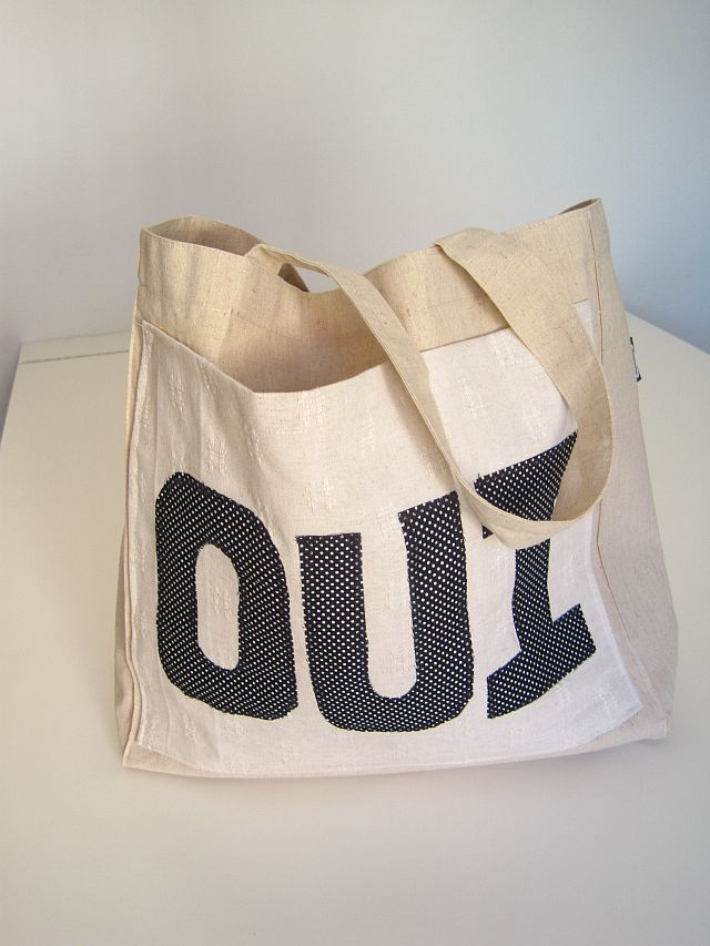 Upcycle a cloth shopping bag into this