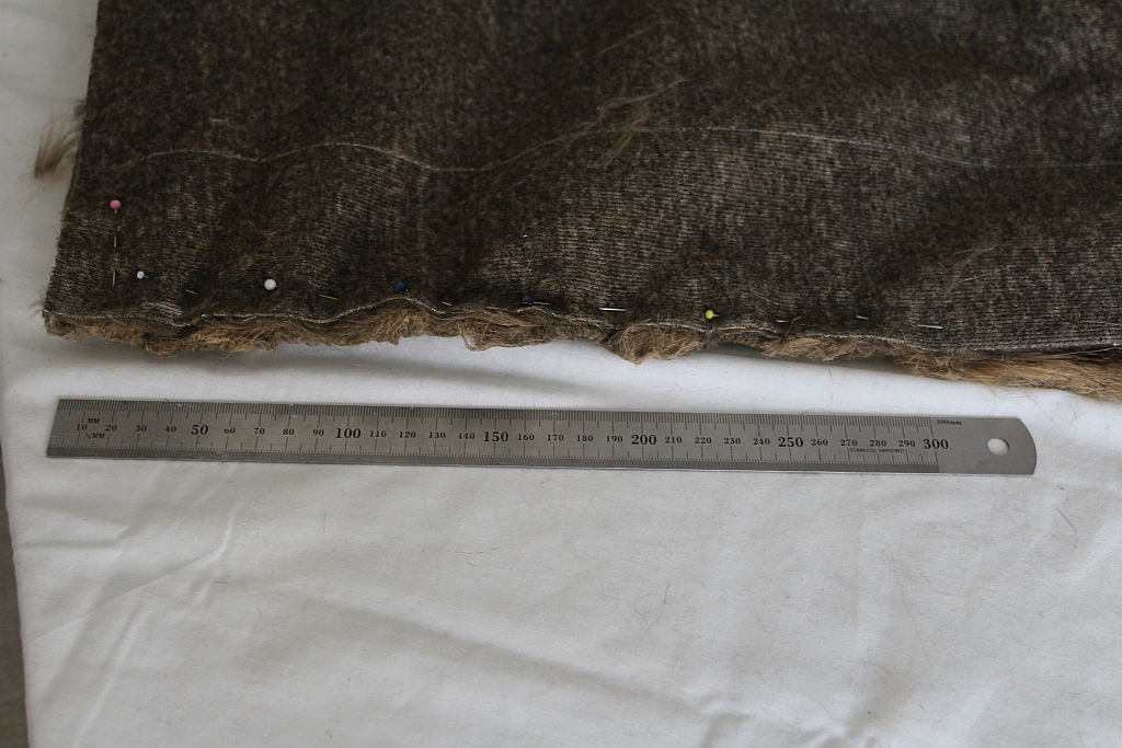 Sew approximately 30 centimetres in on each side
