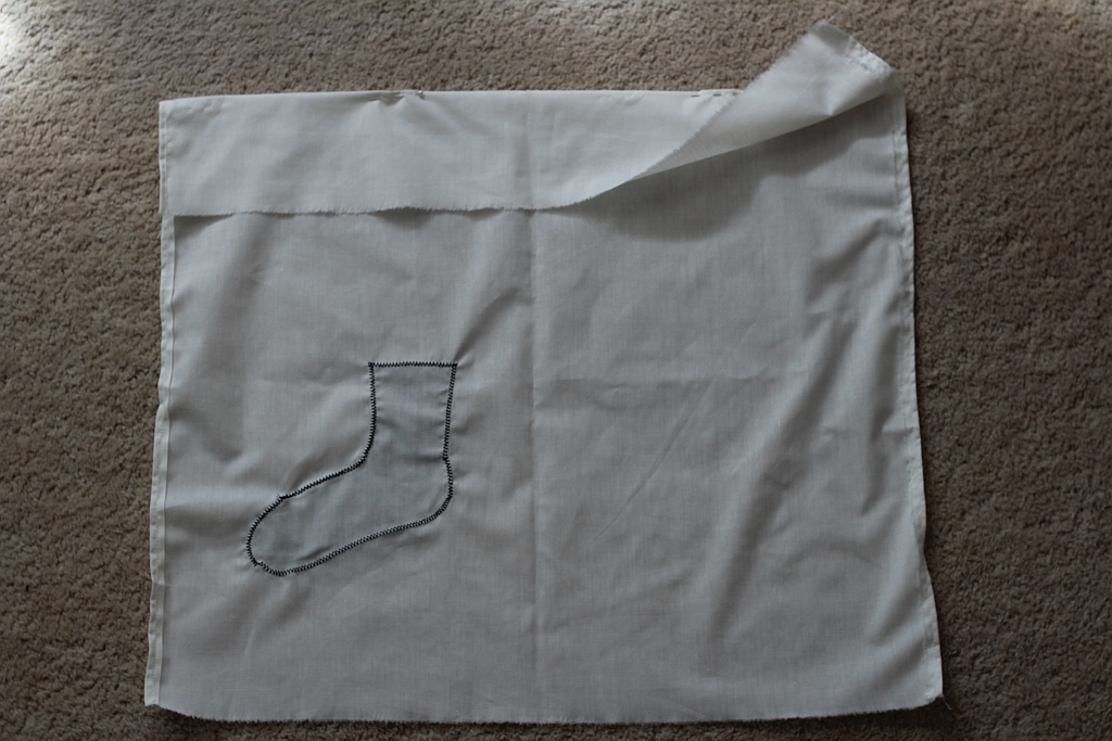 Zig-zag stitch in place