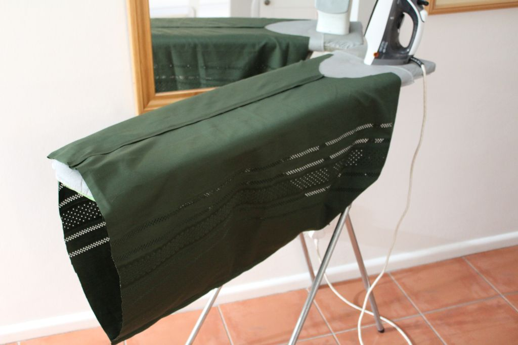 Press seams open with an iron