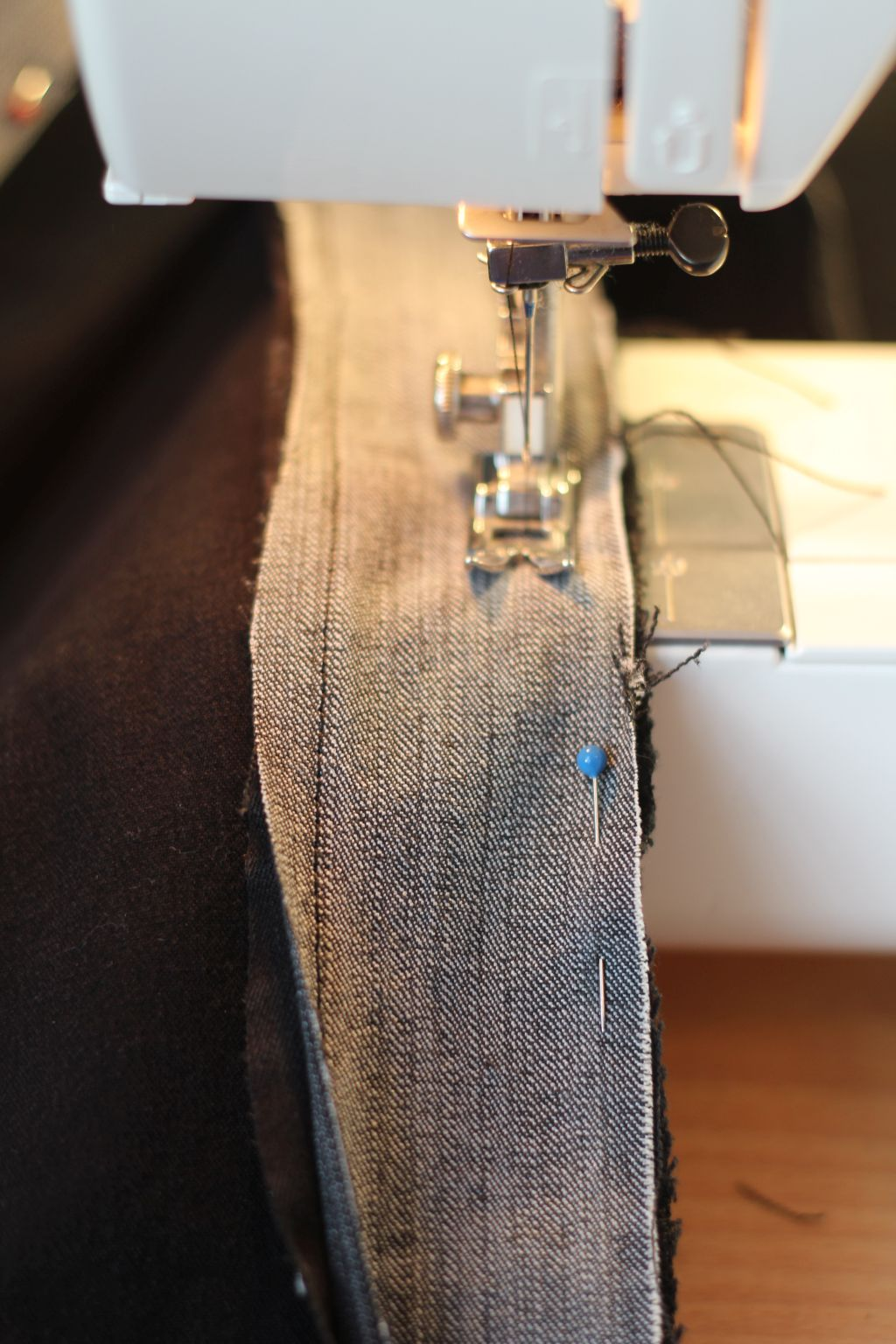 Sew strip to sides