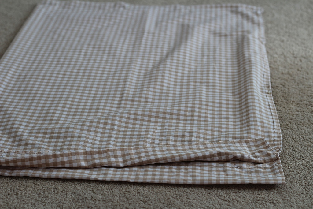 Fold over and sew sides