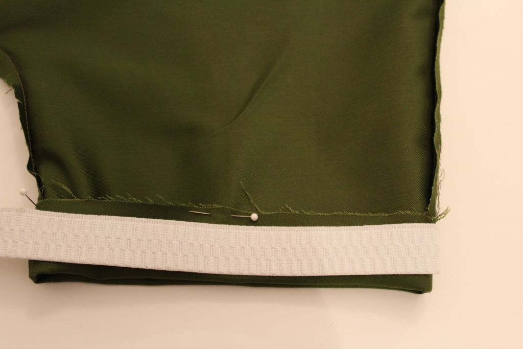 Cut elastic for sleeves