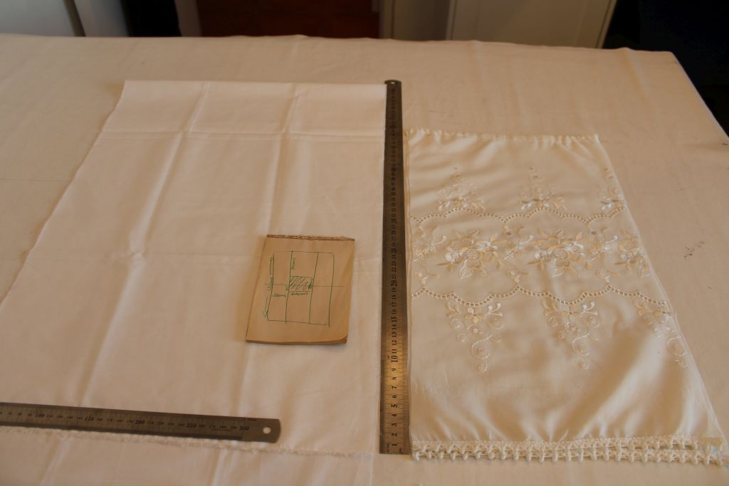 Cut pieces of fabric
