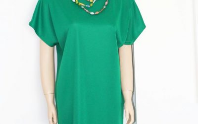 Long Green Shift Dress