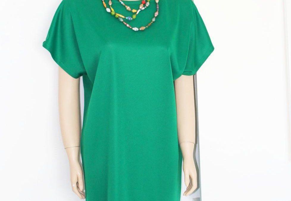 Long Green Shift Dress