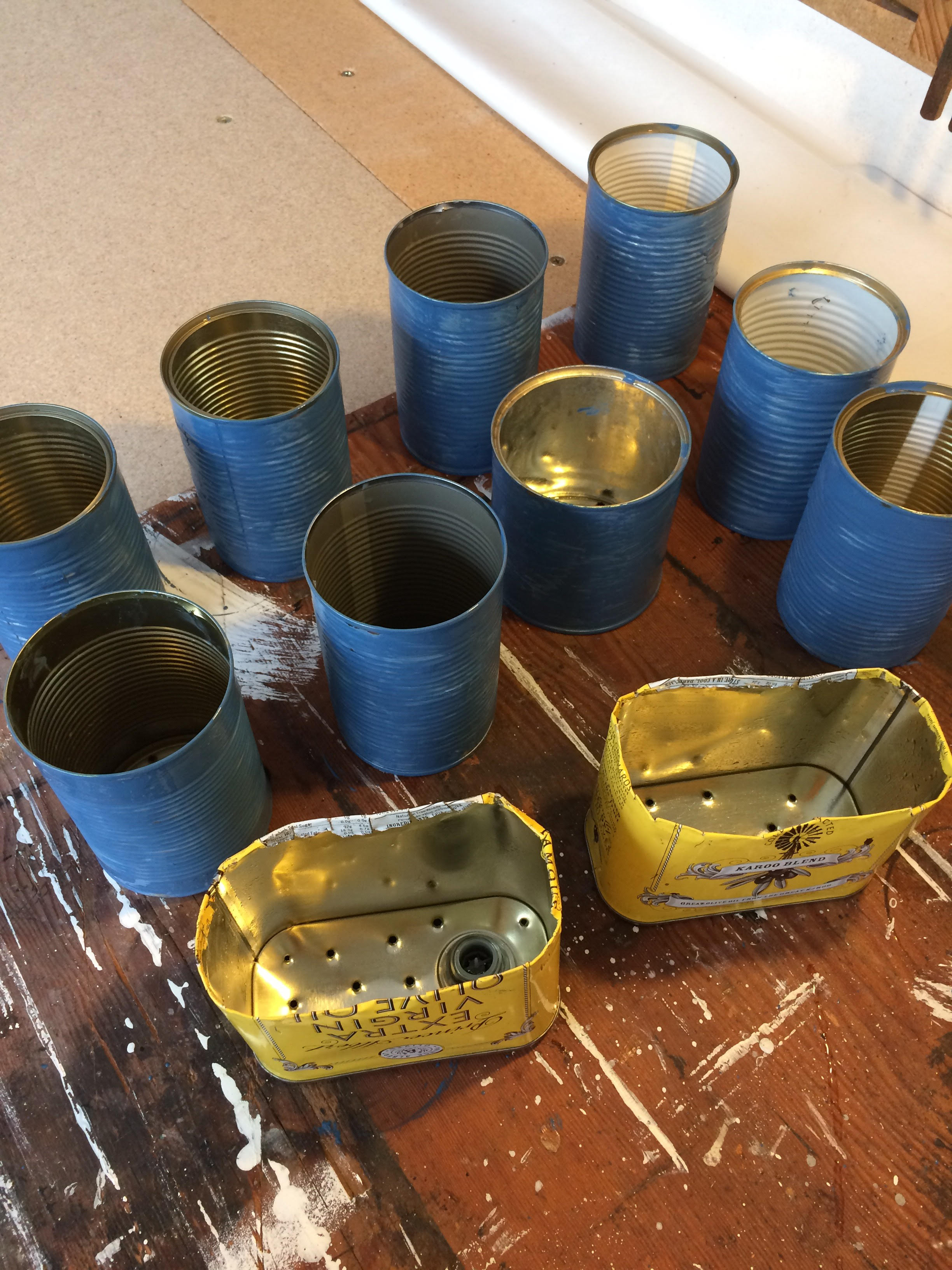Paint some of the cans