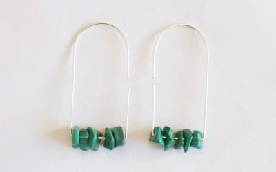 Malachite Earrings