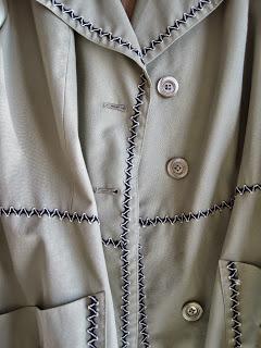 Rick Rack Trim on Coat for Chanel Inspired Coat
