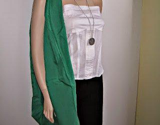 Slouchy Fabric Green Sling Bag