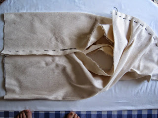 How to Make Cream Denim Sling Bag