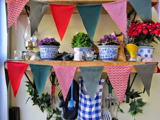Festive Flags or Bunting from Fabric Scraps