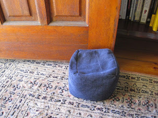 Square Doorstop from Left Over Fabric