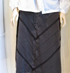 Diagonal lace trim on skirt