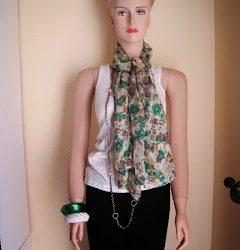 No sew silk scarf