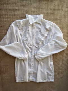 Lace Trim on Shirt, Romantic Styling