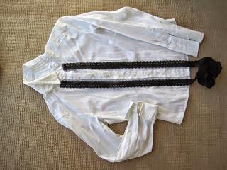 Contrast Lace Trim on Shirt