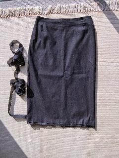 Adding Lace Trim to Skirt Hem