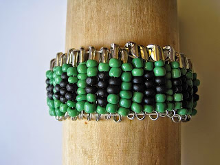 Ethnic Inspired Bracelet made from Safety Pins