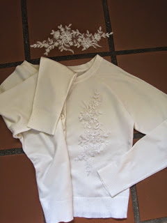 Adding Lace Applique to a Cardigan