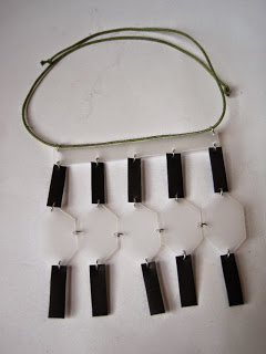 Tribal Inspired Necklace from Recycled Food Containers