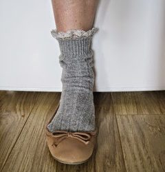 Lace Edged Socks