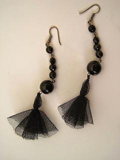 Net Tassel Earrings