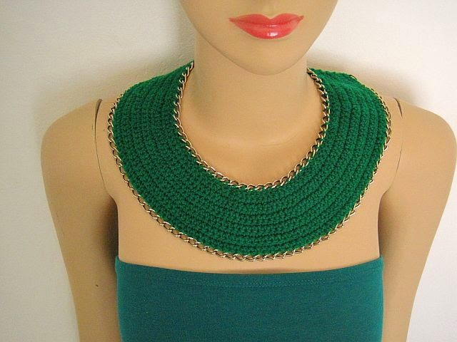 How to make a Crochet and Chain necklace