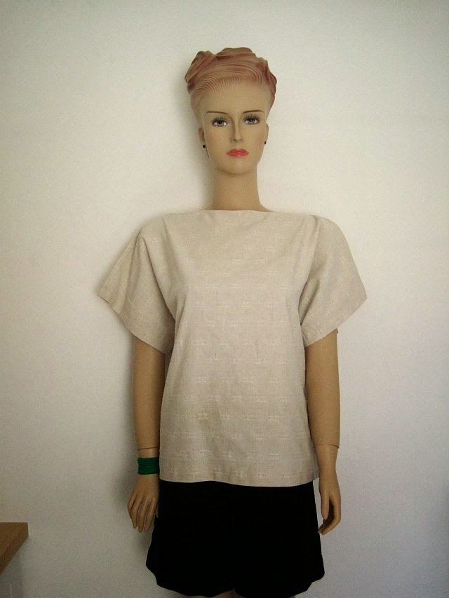 T Shape Top from Old Curtains