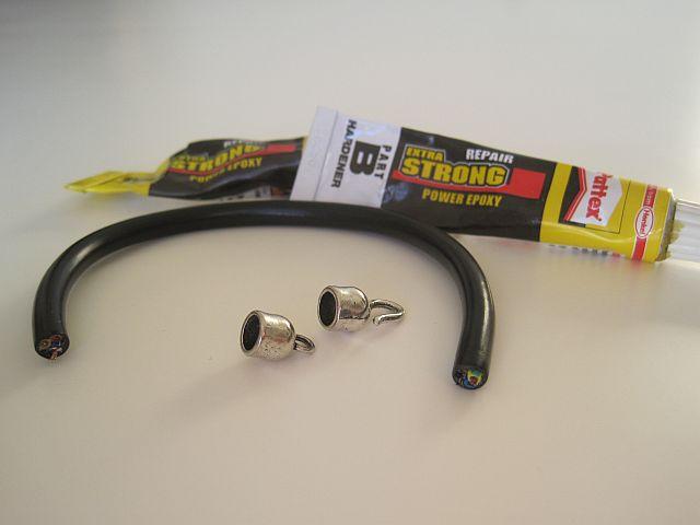 DIY black cable choker