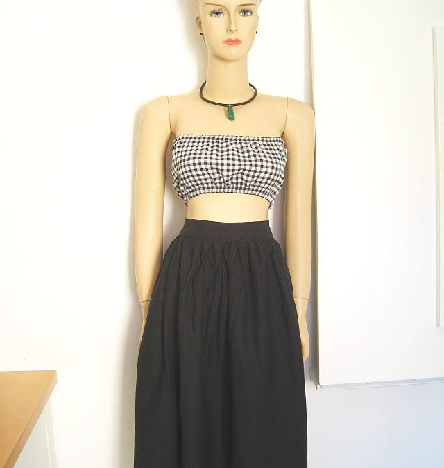 Non Stretch Fabric Bandeau Top + FREE Sewing pattern