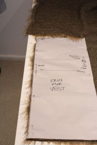 Cut vaux fur vest from pattern