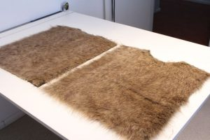 Back and front of faux fur vest