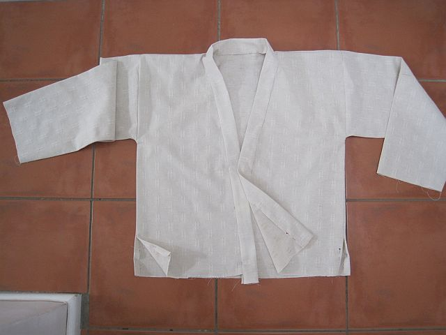 Fold collar back and sew