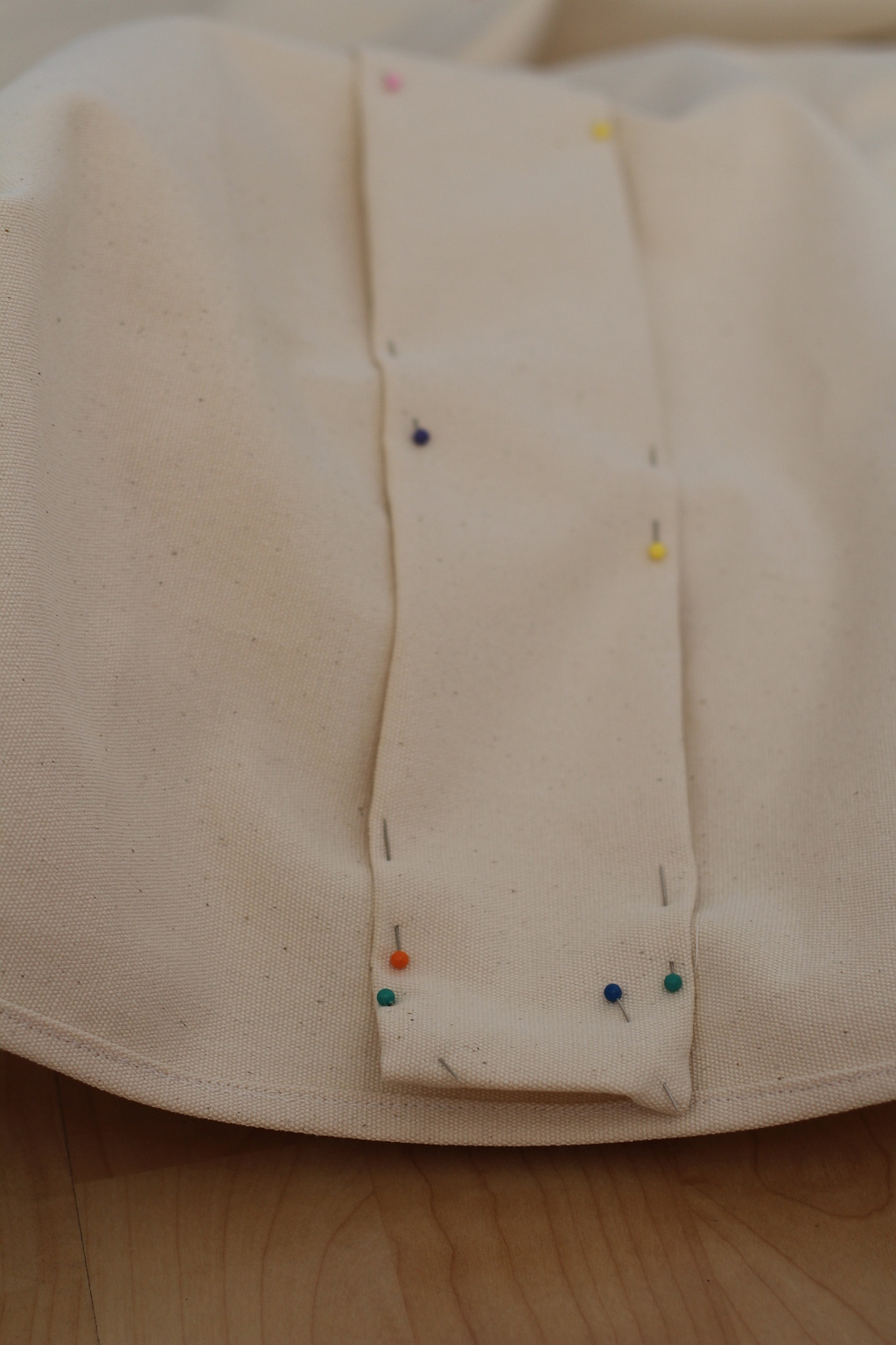 Pin to shade cloth