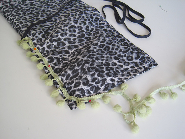 Pin and sew embellishment