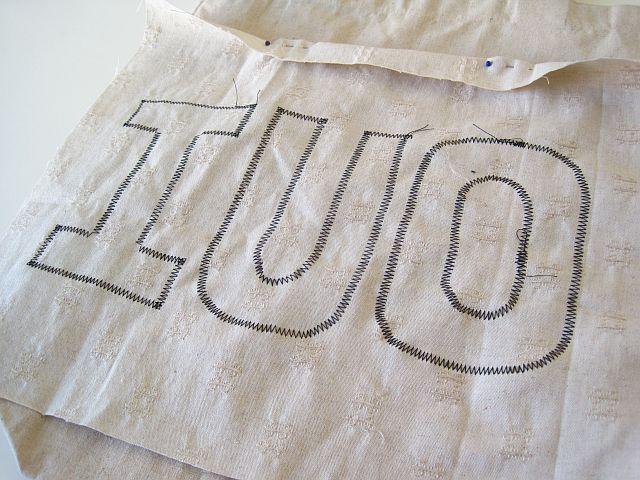 Fold over top of pocket and make a hem