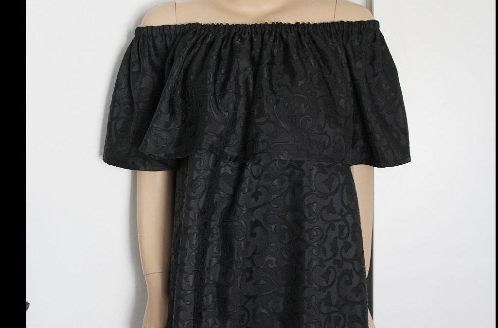DIY Ruffle Shoulder Dress